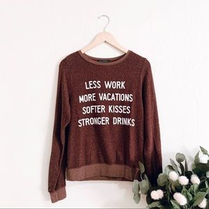 Wildfox More Vacations Sayings Sweater
